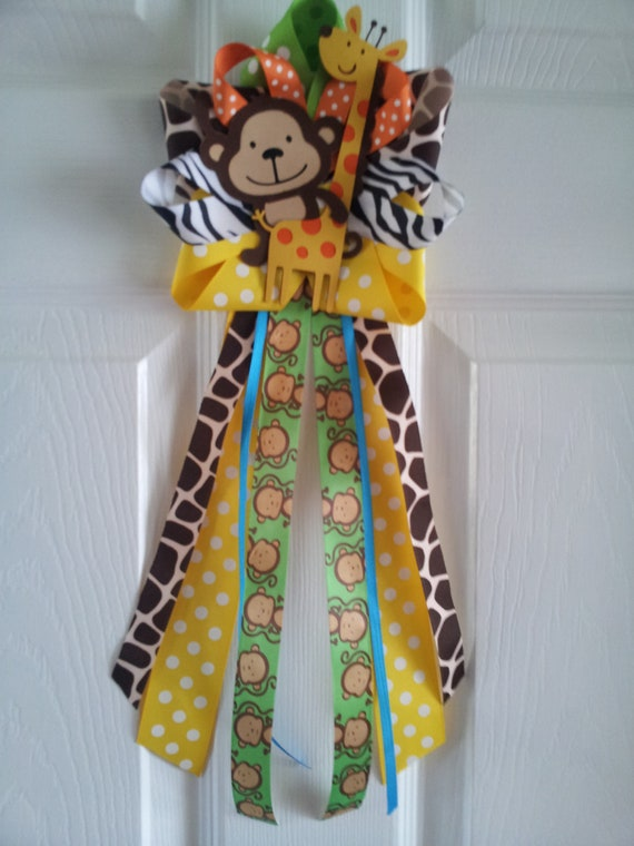 Items Similar To Jungle Theme Monkey And Giraffe Door
