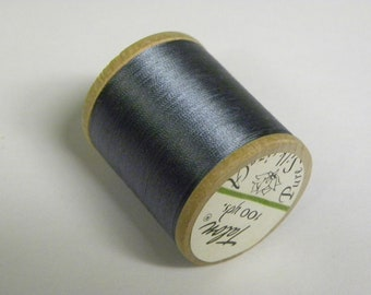 Vintage Talon  Pure Silk Hand Sewing Embroidery Thread 100 Yd. Wooden spool Shade 239 Silvery Blue