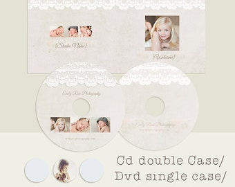 Cd Double Case, dvd Single Case, 2 cd/dvd Labels, Pink Powder, psd templates