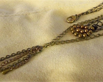 Necklace Mixed Metal Tassel Necklace One Necklace with Varying Lengths of Chain Gift Unique