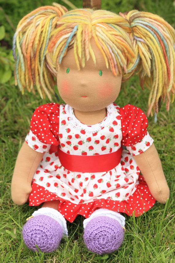 """Waldorf doll,Zita,17""""tall,soft toy,cloth doll"""