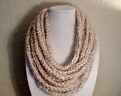 Cream Chain Necklace Infinity Scarf - Neck Warmer