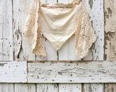 Wraptured in Romance Reversable Wrap upcycled cream wedding shawl eco friendly bohemian gift present birthday Christmas