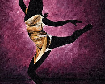Original Acrylic Painting on Canvas 'Milan' 8x10 Dancer Ballet Modern Contemporary