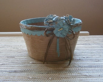 Paper Basket / Bowl, Handmade - Recycled Kraft Paper