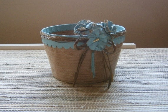 Handmade Basket Paper : Items similar to paper basket bowl handmade recycled
