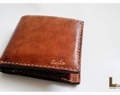 Handstitched 2 fold wallet with coin pocket