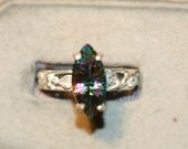MYSTIC TOPAZ MARQUISE 7X14mm ring set in silver size7