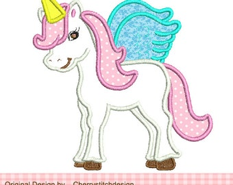 """Embroidery design Unicorn embroidery applique - approximate 4x4,5x5, 6x6"""""""