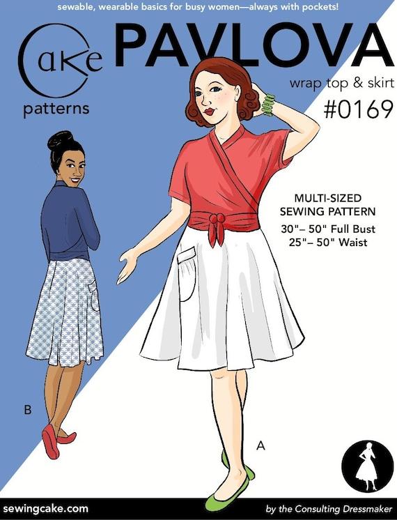 Pavlova Wrap Top & Skirt - Cake Patterns #0169