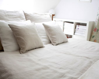 Linen bedding 5 pcs, King  size , Natural  ,prewashed linen,