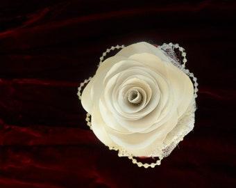 Rose Wrist Corsage - Flowers (Paper Oragami)