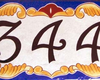 House number plaques, hand painted Italian house numbers, ceramic house numbers, house numbers, house sign, hand painted ceramic house sig