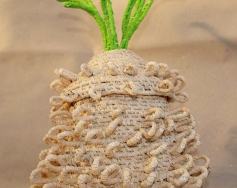 Pineapple Coiled Basket