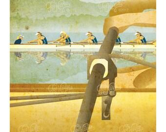 "DIGITAL DOWNLOAD Rowing Poster: ""Oderint dum metuant"""