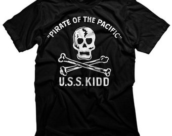 USS Kidd Pirate of the Pacific Shirt, Skull and Crossbones Shirt, Baton Rouge Shirt, Navy Shirt
