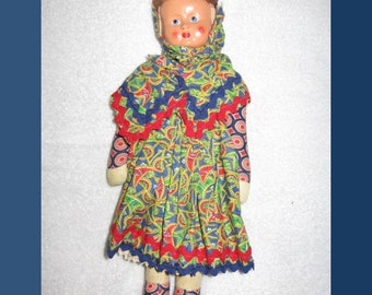 "1950s 11 1/2"" Sawdust-Filled Doll"