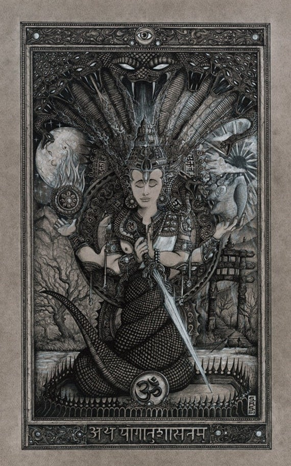 GICLEE PRINT - Original Patanjali Drawing