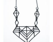 Geometric Necklace - Pharaoh Revival Necklace - Inspired by Armatures of Bridge Structures and Danish Half Timbering - jamiespinello