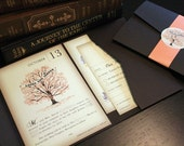 Reserved for Jacqueline Andrews, Balance of Fall Vintage Book Wedding Invitations
