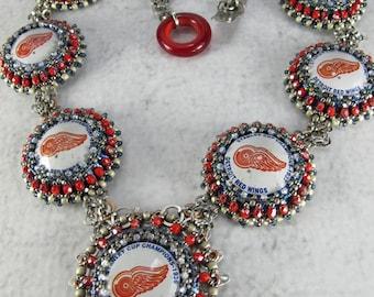 Brutal Elegance - Red Wing Stanley Cup Bottle Cap Necklace