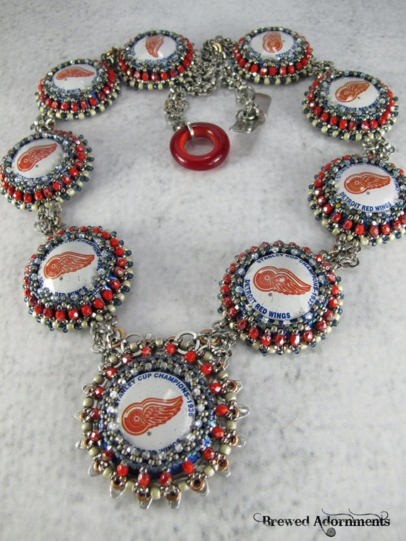 Brutal Elegance - Red Wing Stanley Cup Bottle Cap Necklace