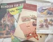 Vintage Books Grab Bag Knit & Crochet Bazaar Crafts Belts Cake Decorating