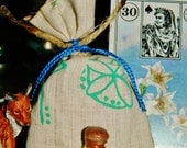 MEDITATION PEACE Mojo Gris Gris Bag AND Feeding Oil - Meditation, Peace, Clearing, Happy Vibes, Positive Vibes