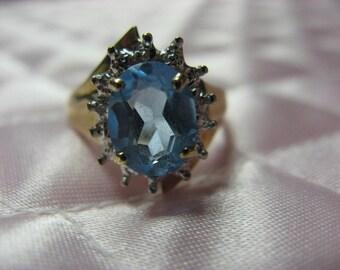Blue Topaz ring for December