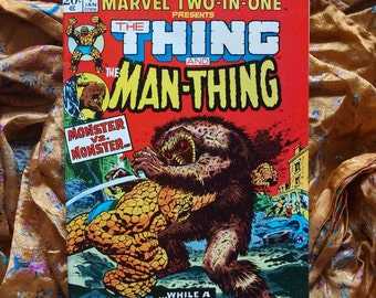 The Thing And The Man Thing No 1 Marvel Two In One 1974 Vengeance Of The Molecule Man.