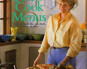 QUICK COOK MENUS  by Martha Stewart  -  Vintage 80s   - Sunday Dinner - Easy Meals  -  Simple Recipes