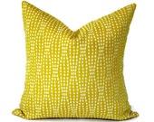Waverly Strands Decorative Pillow Accent Pillow Pillow Cover 18x18 20x20 12x20 12x18  Pillow Sham Citrus & Cream