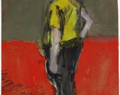 Original Painting - 'Old Man in the Future' by Peter Mack