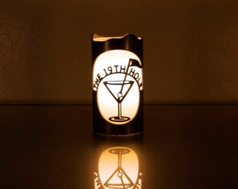 The 19th Hole - 1002 - Metal Candle Holder Luminary