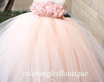Flower girl dress baby tutu dress toddler birthday dress wedding flower girl dress 2T 3T 4T 5T 6T