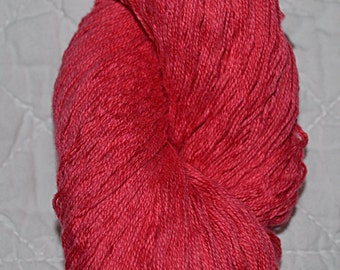 Pure Cotton Yarn Reclaimed Yarn DK/Worsted Weight Coral