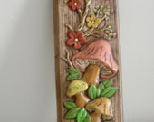 Vintage 1970s Mushroom Wall Hanging Brady Bunch Decor