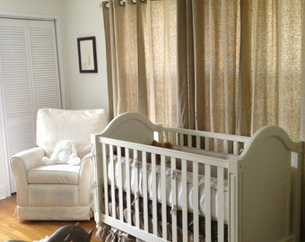 Burlap Crib Skirt with Ruffle