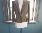 SALE, SALE... Film noir: vintage tailored HOUNDSTOOTH jacket