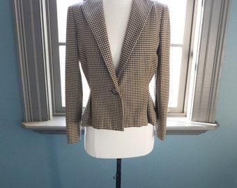 SALE, SALE... Film noir: vintage tailored HOUNDSTOOTH jacket