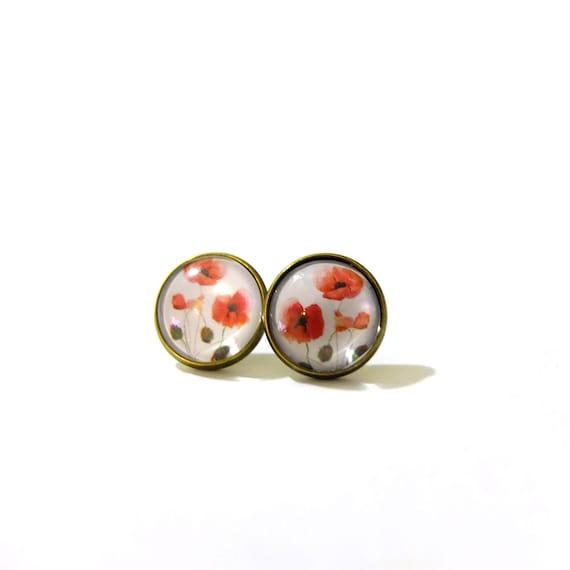 poppy earring poppy earrings poppy flowers poppy