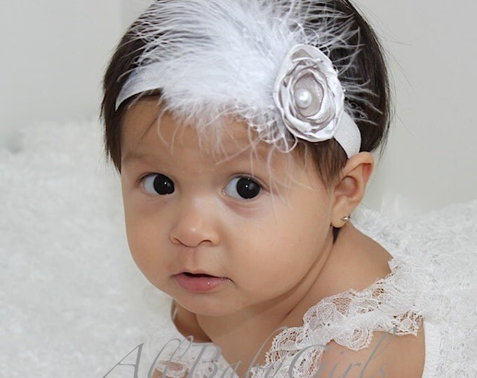 Featured listing image: flower headband, baby headband, newborn headband, baby flower headband, baby girl headband, infant headband, baby headbands