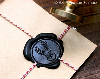 Buy 1 Get 1 Free - 1pcs Deer Gold Plated Wax Seal Stamp (WS005)