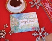 Sugar Plum Dreams Christmas Cards Set of 8 cards