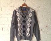 SALE Vintage Pendleton Argyle Sweater, Men M