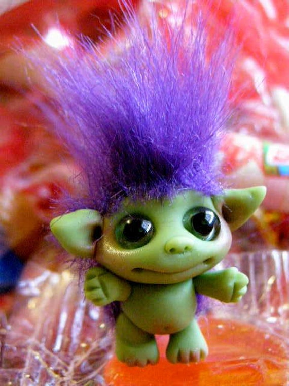 "OOAK Little Goblin Trollfling Troll doll ""Willy"" by Amber Matthies"
