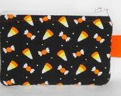 Yummy Halloween Candy Padded Zippy Pouch -- Cute Camera Bag / Card Holder / Cell Phone Case / Cosmetic Bag / Small Wallet / Coin Purse