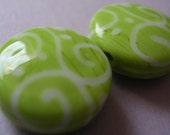 Lampwork Beads Lime Green Handmade Glass Lime Sprees (2)