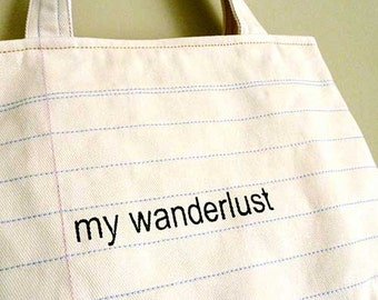 ON SALE - Notebook Tote Bag - My Wanderlust