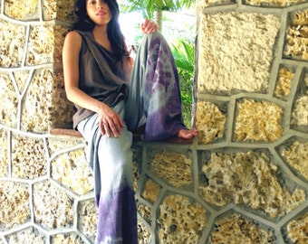 Wading in color. Organic Hemp Cotton Pants. Made to order.